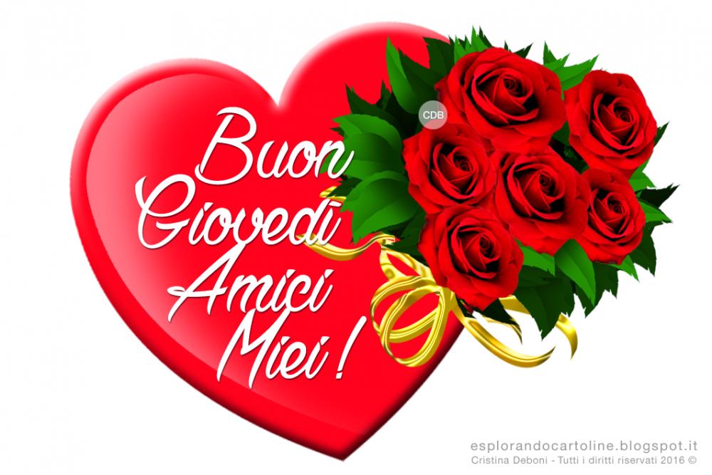 BUON GIOVEDI' CUORE GRANDE E ROSE ROSSE 2016.png